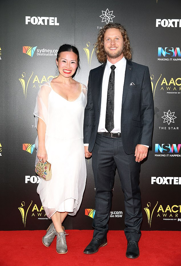 Split: In an interview with The Weekend Australian magazine over the weekend, Poh announced that after six years of marriage and 12 years together in total, they've split. Pictured with Jonathan