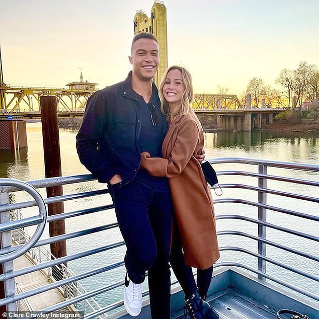 Happier times: Clare quickly became engaged to Dale after meeting on her season of The Bachelorette
