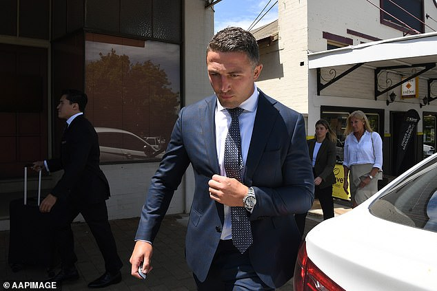 Arrest:On Monday, Sam Burgess' white BMW X5 was pulled over at 1.30pm by police at Braemar, in the Southern Highlands, near Phoebe's family estate. Police will allege Burgess returned a positive roadside drug test for cocaine, was driving an unregistered car, and has never held a New South Wales driver's licence