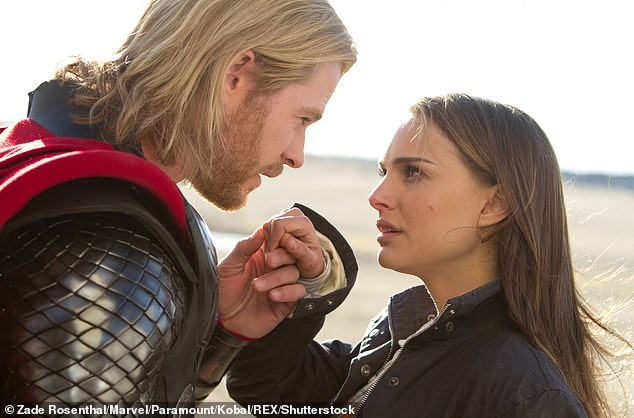 Character:Thor: Love and Thunder will see Natalie's character, astrophysicist Jane Foster, take up the mantle of Thor after transforming into a female version of the Norse god. Natalie is pictured with Chris Hemsworth in 2011's Thor