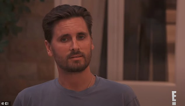Big question: Disick appeared to be caught off guard when one of the family members inquired when he and Kourtney were 'going to get back together?'