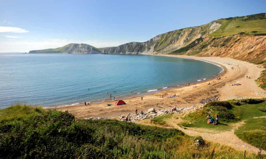 Beach at Worbarrow Bay Dorset