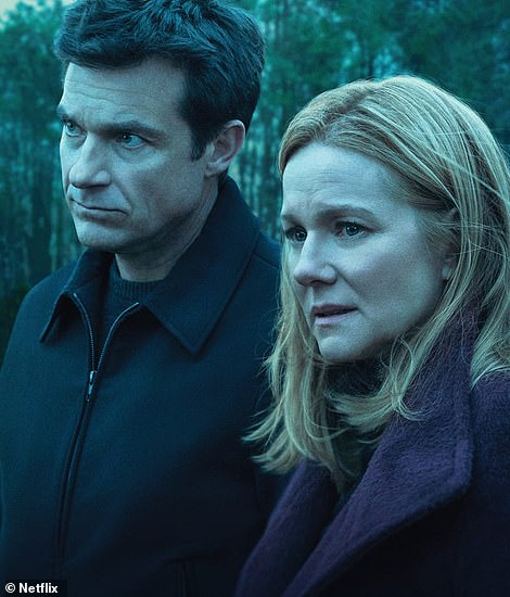 What's on the box: When it comes to TV, Ozark has received four nominations in all (left) while Emily in Paris has been nominated in the Best Television Series and Best Performance By An Actress in a Television Series (Lily Collins) categories