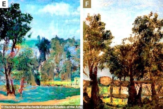 Pictured are attempts at representational art. But are they human-made or machine-made? Find out the answers at the bottom of this article