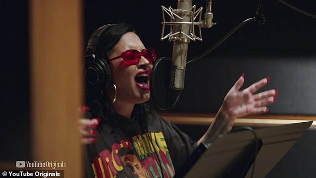 Grateful:'I dealt with a lot of the repercussions and I feel like they are still there to remind me of what could happen if I ever get into a dark place again,' said the Sorry Not Sorry singer, adding that she is 'grateful for those reminders'