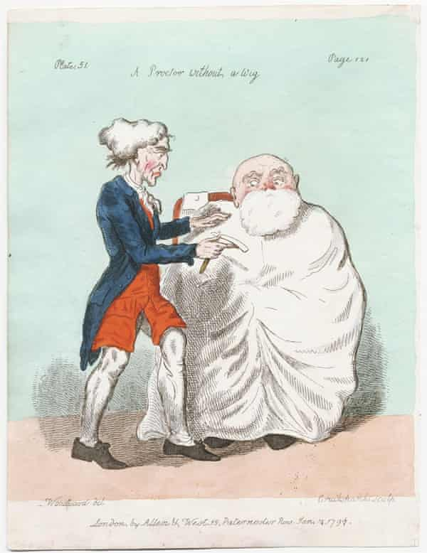 A Proctor without a Wig, 1797.
