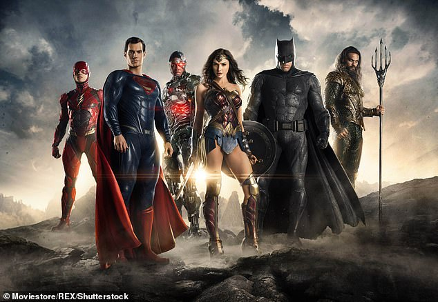 Strong words: Fisher claimed that 'blatantly racist conversations' went on among 'top level executives at Warner Bros. Pictures'; publicity still for Justice League (2017)