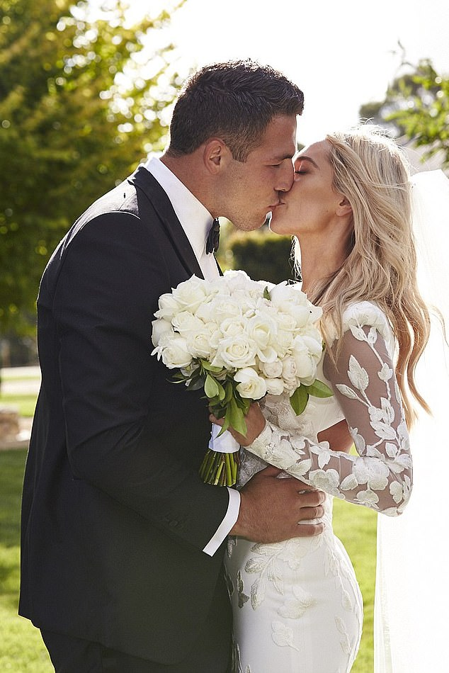 Marriage: Sam Burgess married Phoebe Hooke at her family home just outside Bowral in the NSW Southern Highlands in December 2015. The couple had two children and split in late 2019