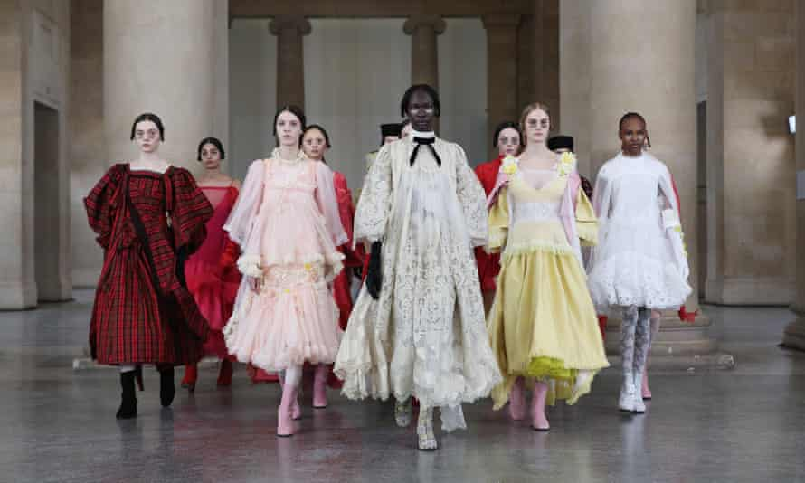 Bora Aksu's dgital presentation at London fashion week on Friday