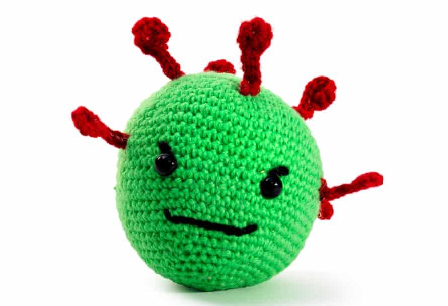 Crocheted coronavirus