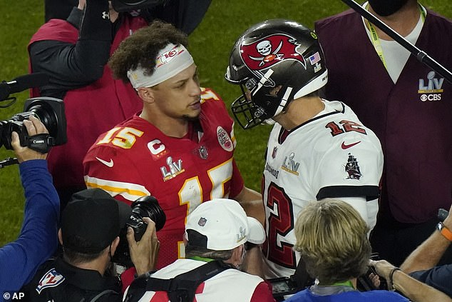 Can't win 'em all: Mahomes again led his team to the Super Bowl in 2021, but fell short against Tom Brady and the Tampa Bay Bucs earlier this month