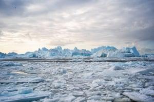 Icebergs near Ilulissat, Greenland.