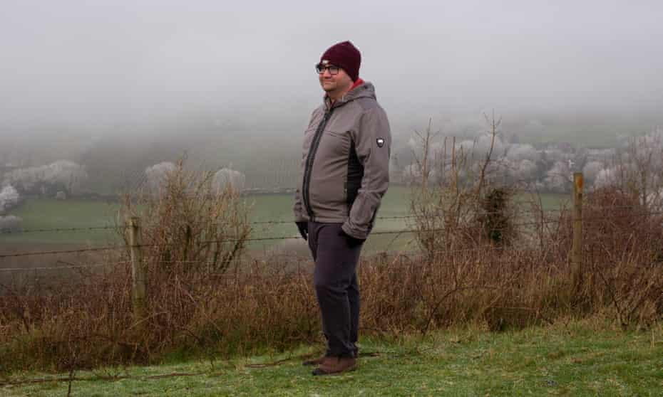 Walker Abel on Ditchling Beacon, South Downs