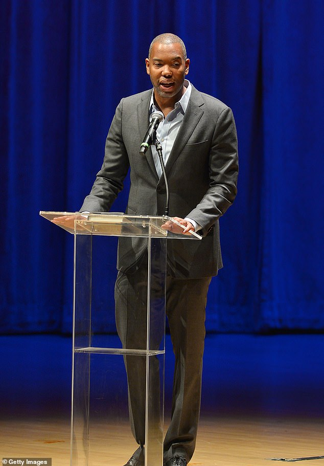 New direction: Essayist and novelist Ta-Nehisi Coates was announced Friday to be writing a new Superman film that is rumored to feature a Black Superman; seen in 2019 in Miami