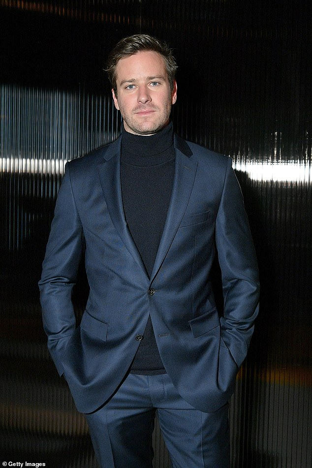 Shocking: In recent weeks, Armie has faced huge backlash and dropped out of multiple projects after messages allegedly sent by the actor, 34, were leaked