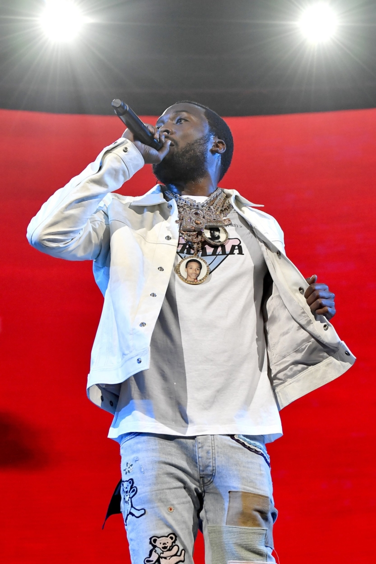 MIAMI, FLORIDA - JANUARY 30: Meek Mill performs onstage during the EA Sports Bowl at Bud Light Super Bowl Music Fest on January 30, 2020 in Miami, Florida. (Photo by Frazer Harrison/Getty Images for EA Sports Bowl at Bud Light Super Bowl Music Fest )