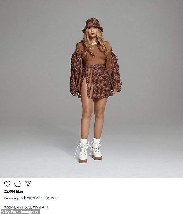 Another angle: Bey also added this put together look to her social media