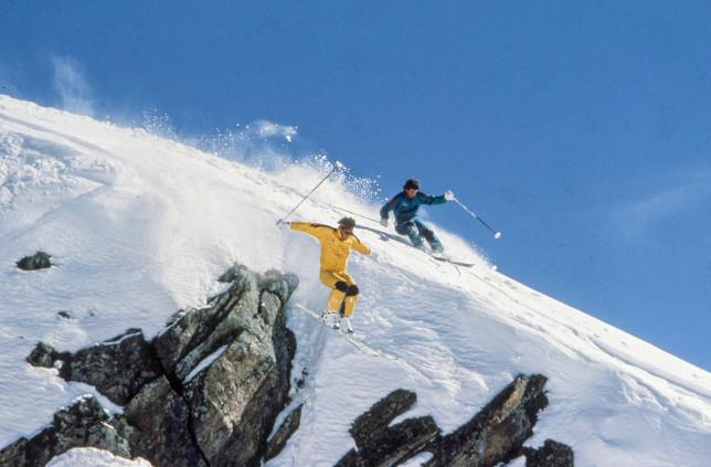Dan Egan Launching over John Egan in Zermatt