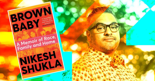 Image of book Brown Baby next to pic of author Nikesh