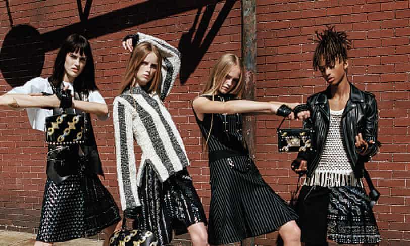 Jaden Smith, right, wears Louis Vuitton.