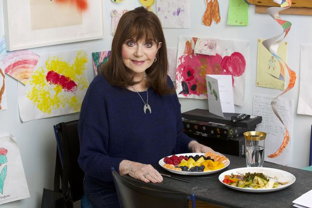 Dr Miriam Stoppard eating a healthy lunch