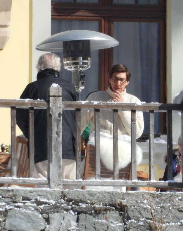 Adam Driver filming House of Gucci in Italy