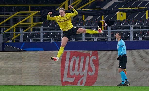 Haaland scored twice for Dortmund on the night