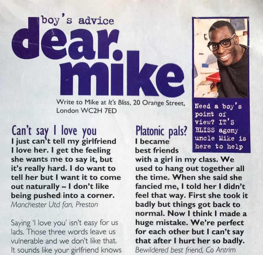 'If they didn't like what you wrote, you'd be dead to them' … Mike Gayle's column in Bliss.
