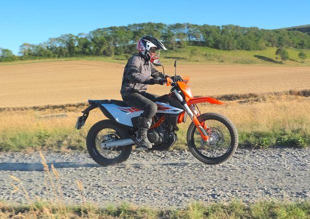 Fraser rides the Enduro R