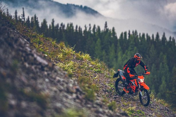 At home: The Enduro R come into its own on the rough stuff