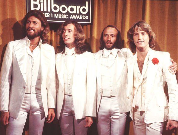 Andy Gibb and The Bee Gees at the 1977 Billboard Music Awards