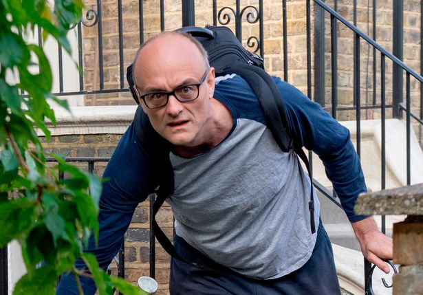 25-05-2020 Dominic Cummings leaves his North London Home this morning