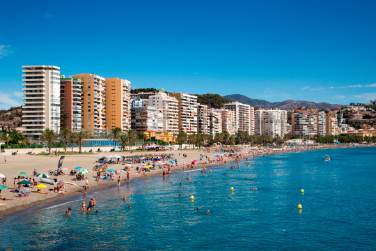 Beach shot of the Costa del Sol