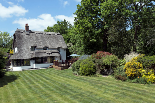 A holiday cottage and its garden