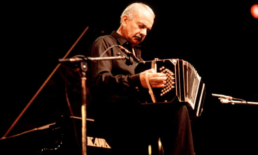 The late Astor Piazzolla, with his bandoneón