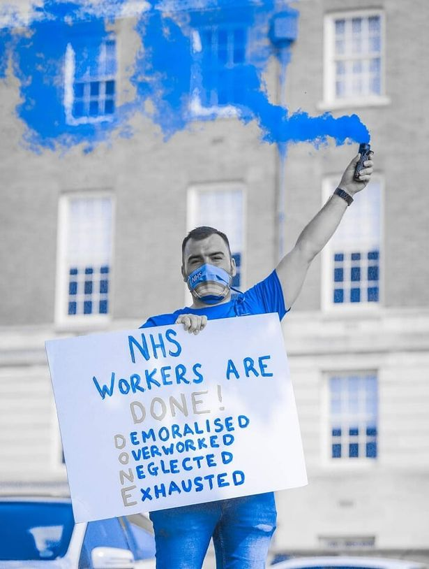 A protest for NHS workers