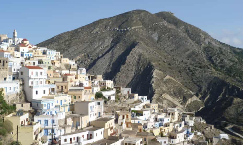 Olympos village Karpathos where some of the old ways survive.