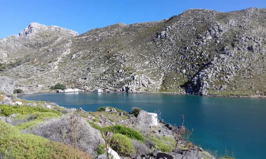 The abandoned harbour of Tristomo on Karpathos.