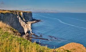 Bempton Cliffs; Chalk Cliff; Shore and Arch Yorkshire; UK