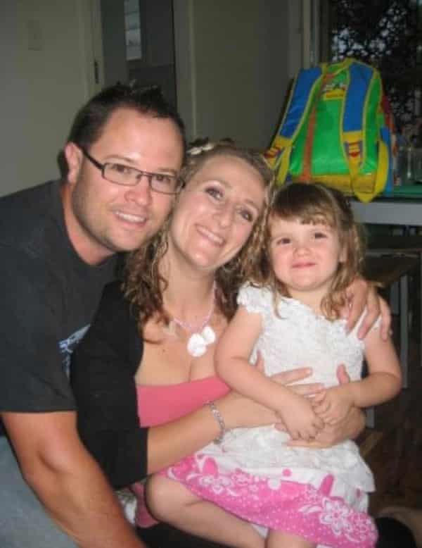 Louisa Chircop and Steve May with their daughter