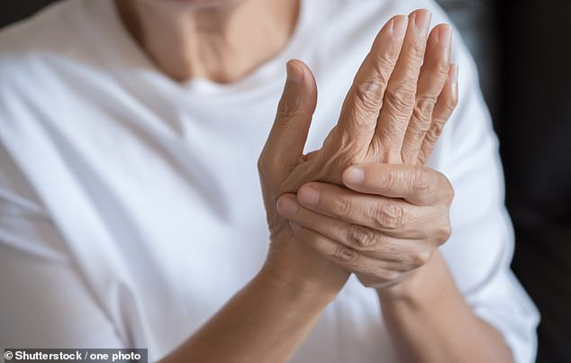 Baricitinib is already used on the NHS to reduce the symptoms of arthritis (file photo), but recent studies have suggested it can also help fight severe life-threatening Covid