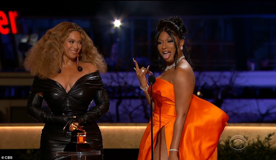 Epic: Beyonce has tied the record for most wins ever by a singer and most wins by a female artist at the 63rd Annual Grammy Awards on Sunday night