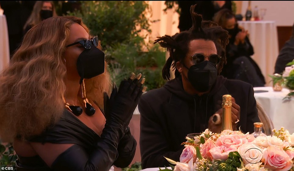 They made it: Beyonce and Jay-Z made a surprise appearance when the category was announced