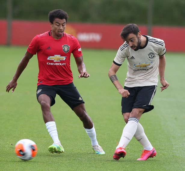 While Fernandes was playing on the right of a midfield diamond, appearing to solve Solskjaer's problem