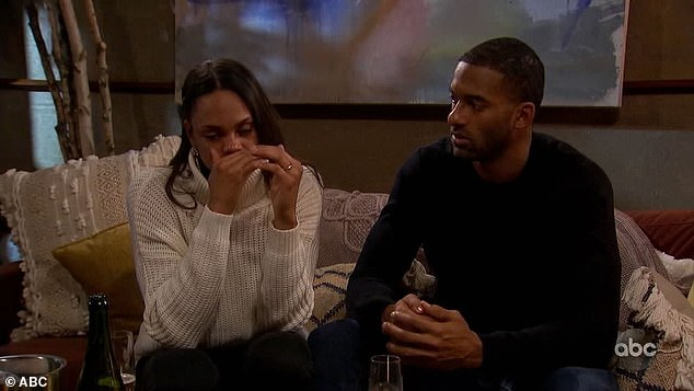 Sad:Earlier in the night James had eliminated Michelle Young in order to be with Kirkconnell and many fans were not happy about that decision