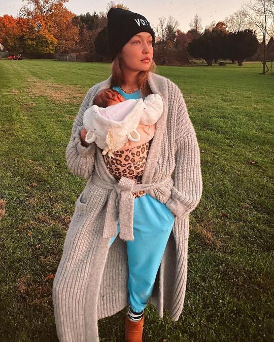 Gigi Hadid and baby Khai