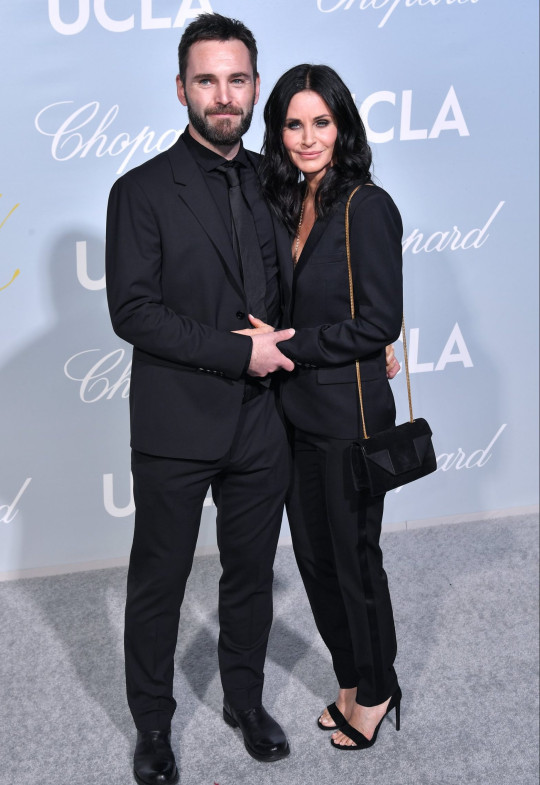 Johnny McDaid and Courteney Cox attend Hollywood for Science Gala,