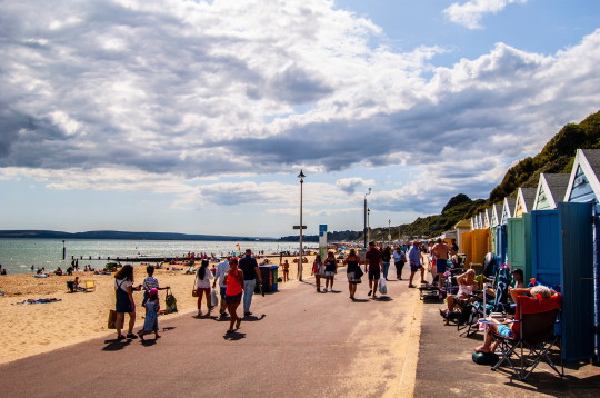 BOURNEMOUTH, DORSET/ENGLAND ? JULY 28: People enjoying the sunshine on Bournemouth beach on July 28 in Bournemouth. 30C temperatures set to scorch Britain by Sunday. ; Shutterstock ID 1468293389; Purchase Order: -