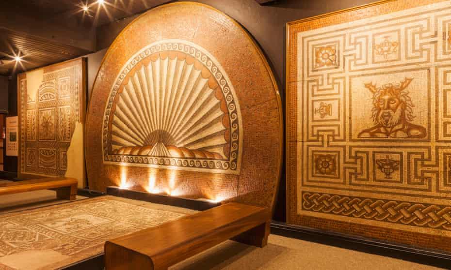 Roman mosaics at the Verulamium Museum.