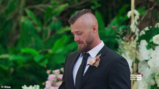 During Tuesday's episode viewers watching from home were led to believe that Jaimie was touched by her husband's speech, having earlier stumbled while trying to read his vows.